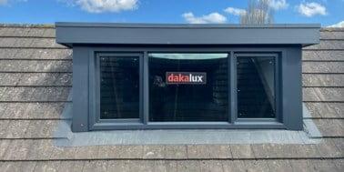 antraciet dakkapel van Dakalux